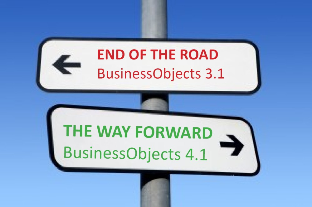 SAP BusinessObjects 3.1 is out of support in December.